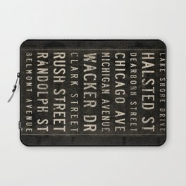 Chicago Streets Transit Sign Laptop Sleeve