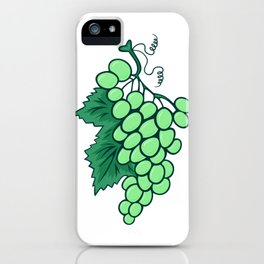 Abstract bunch of grapes iPhone Case
