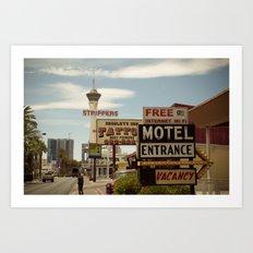 Strip on the Strip - Las Vegas Art Print