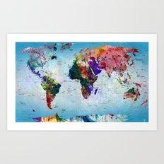 map Art Print
