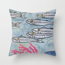 Barracuda! Little Fish with a ton of Attitude! Throw Pillow