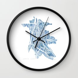 Castle Rock Colorado watercolor map Wall Clock