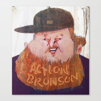 action bronson Canvas Prints featuring Action Bronson by Josephine Guan