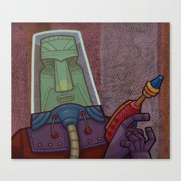 Space Tiki Canvas Print