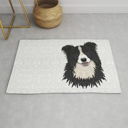 Happy Border Collie Rug