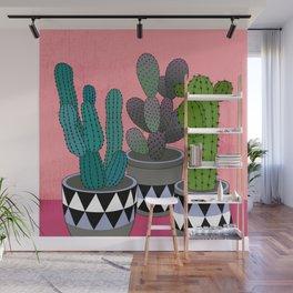 Cactus Art03 Pot#4 Wall Mural