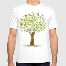 Life tree Mens Fitted Tee White MEDIUM