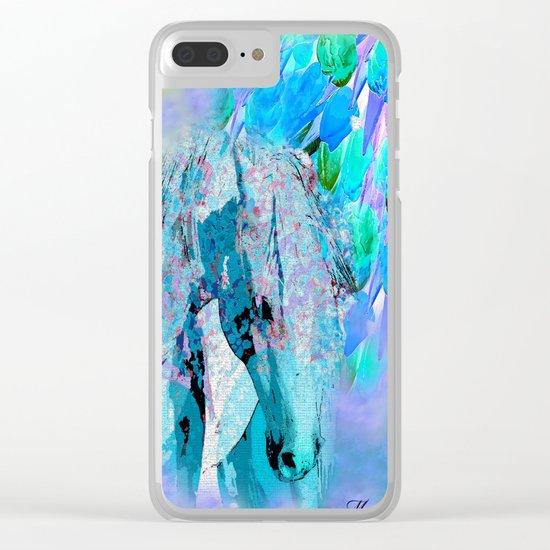HORSE RAINBOW PARADISE Clear iPhone Case