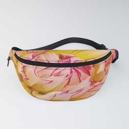 Pink Dahlia with Bright Pink tips Close Up Detail Fanny Pack