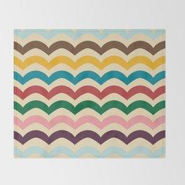 sweet summer waves Throw Blanket