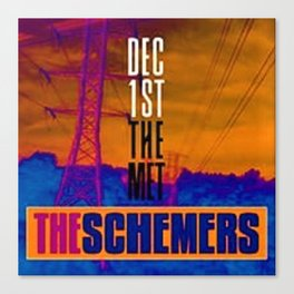 Vintage The Schemers at the Met - Rhode Island Concert Poster Canvas Print