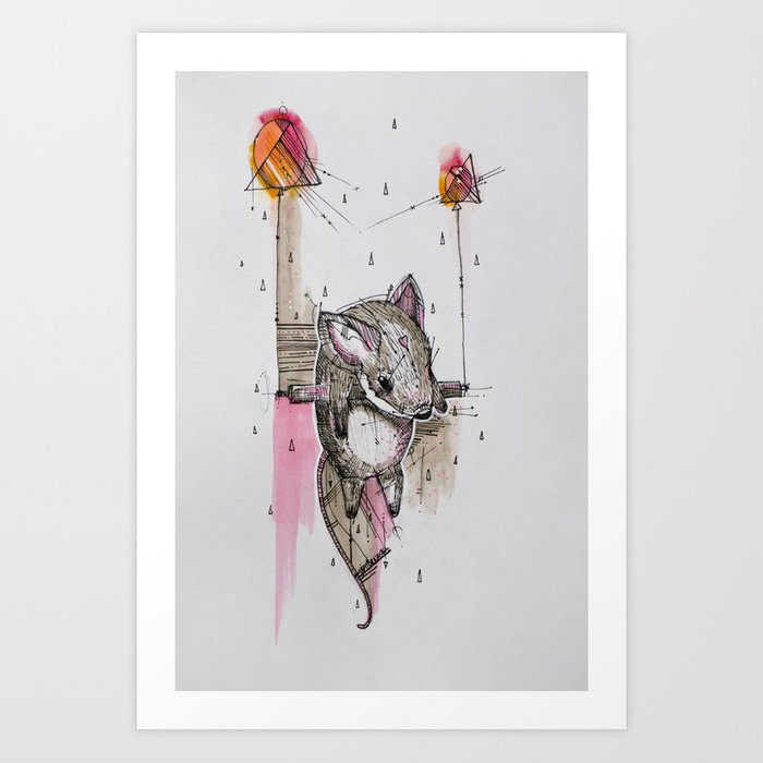 FROM A DREAM TO ANOTHER Art Print