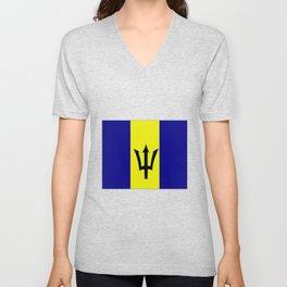 Flag of Barbados Unisex V-Neck