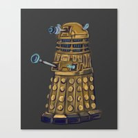 dalek Canvas Prints featuring Dalek  by Fernando Licon