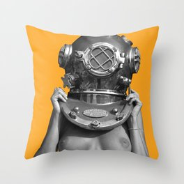 Diver UP - Honey Bump Throw Pillow