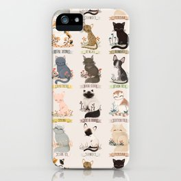 Cats Breed iPhone Case
