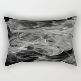 Whispers - Black and white abstract Rectangular Pillow