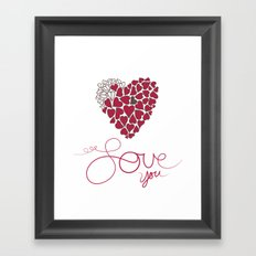 Love You . . . Framed Art Print