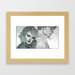 Jean Grey and Scott Cambell Framed Art Print