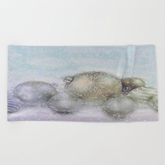 Romantic Christmas Beach Towel