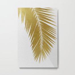Palm Leaf Gold I Metal Print