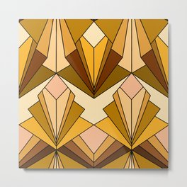 Art Deco meets the 70s - Large Scale Metal Print
