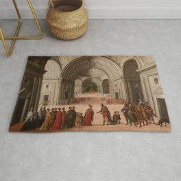 Circle of Juan de la Corte - The Meeting of Solomon and the Queen of Sheba Rug
