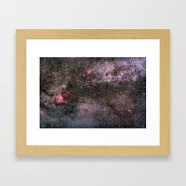 North America Nebula, the center of the Milky Way. Cysnus Constelation Framed Art Print