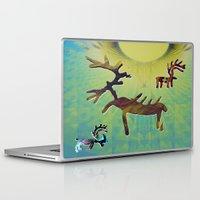 reindeer Laptop & iPad Skins featuring reindeer by donphil