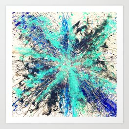 Blue Frequency Art Print