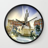 apollo Wall Clocks featuring Oh Apollo! by ExperienceTheFrenchRiviera