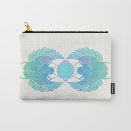 Egyptian Scarab – Turquoise Ombré Carry-All Pouch