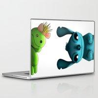 stitch Laptop & iPad Skins featuring Stitch  by KimiSukini