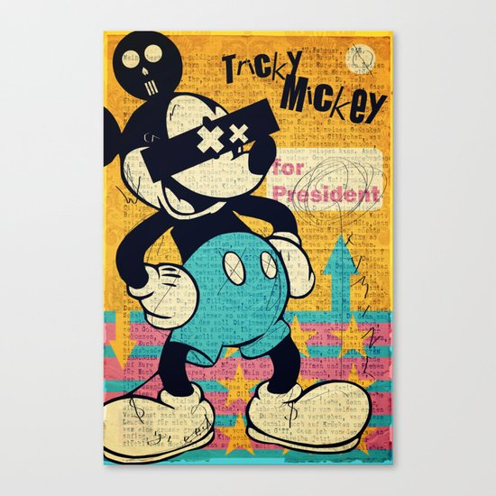 Tricky Mickey Canvas Print