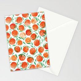 Winter Oranges | White Background Stationery Cards