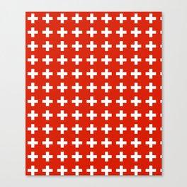 flag of switzerland 2-Switzerland, Alps,swiss,Schweizer,suisse,zurich,bern,geneva Canvas Print