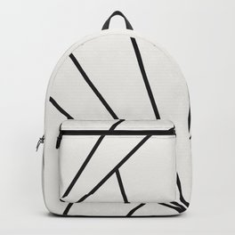 Diamond Series Sun Burst Charcoal on White Backpack