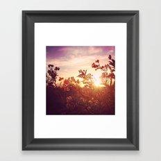 Riverside Weeds - Square Framed Art Print
