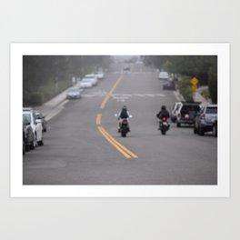 Motorbikes Art Print