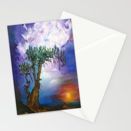 The Tree in Sunset Stationery Cards