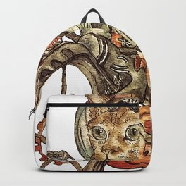 Berserk Steampunk Motorcycle Cat Backpack