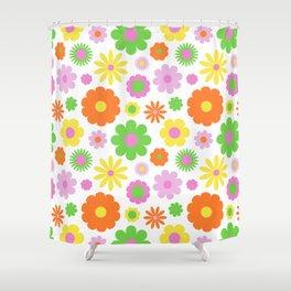 Vintage Daisy Crazy Floral Shower Curtain