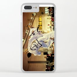 Traditional sparring - Taekwon-do ITF Clear iPhone Case