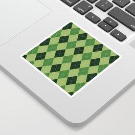 Argyle greens Sticker