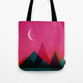 moon light geometric abstract landscape Tote Bag