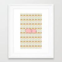 breakfast Framed Art Prints featuring Breakfast by Drew Devries