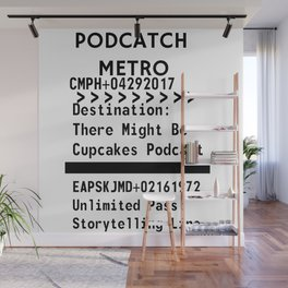Podcatch Metro: Storytelling Line Wall Mural