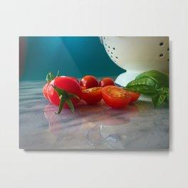 Fallen Cherry Tomatoes Metal Print