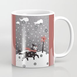 Snow Cat Coffee Mug