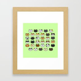 CAT BACKYARD v2 Framed Art Print